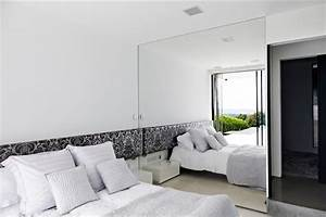 Bedroom mirror wall decor : Contemporary home open to panoramic views