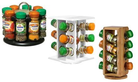 Spice Rack Schwartz by Spice Rack With 12 Bottles Of Spices Groupon Goods