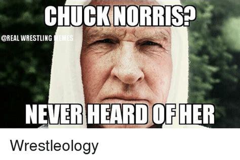 Chuck Norris Wrestling Never Heard Ofher Wrestleology