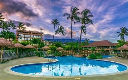 Hawaii Swimming Pool Maui Luxury Sunset Hotel