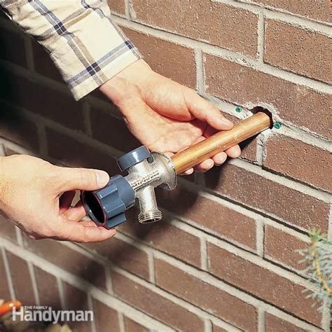 install an outdoor faucet how to install a proof outdoor faucet the family