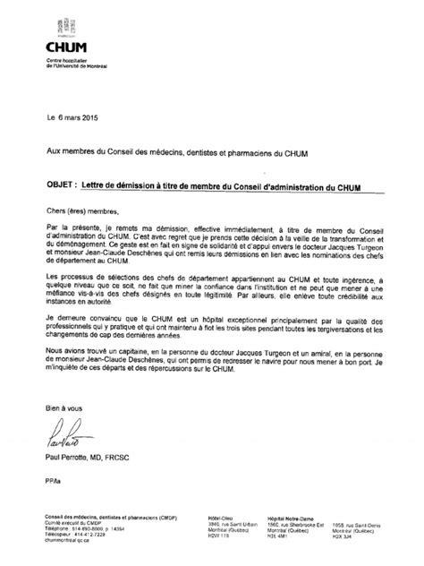 Dr. Paul Perrotte's resignation letter
