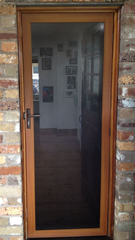 wood effect xceed security screens screen door