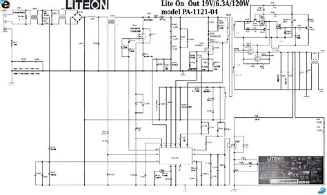 Wiring Diagram For Dell Power Supply Free by Liteon Pa 1121 04 Out Power Schematic Service Manual