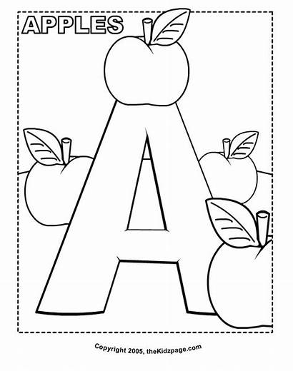 Coloring Printable Pages Preschool Alphabet Sheets Educational
