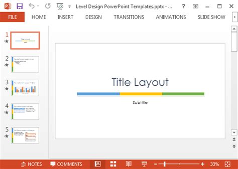 What Is A Design Template In Powerpoint by Level Design Powerpoint Template