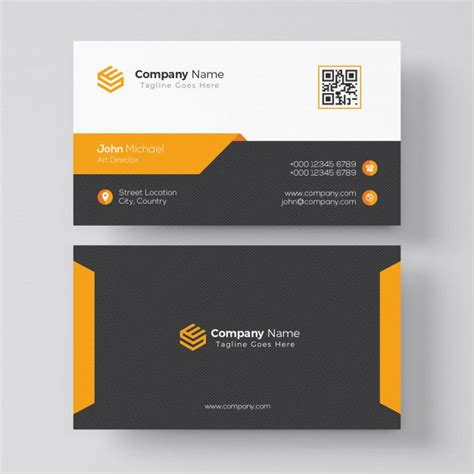 elegant orange business card template  images