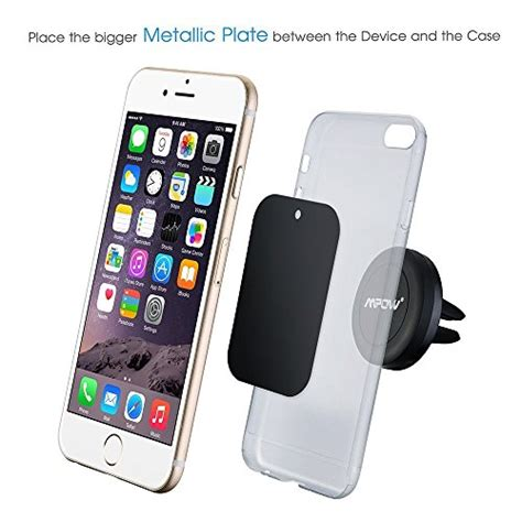 support aimant telephone voiture support t 233 l 233 phone voiture mpow grip magic air vent support