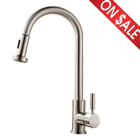 restaurant kitchen faucet single handle pull kitchen bar sink faucet stainless