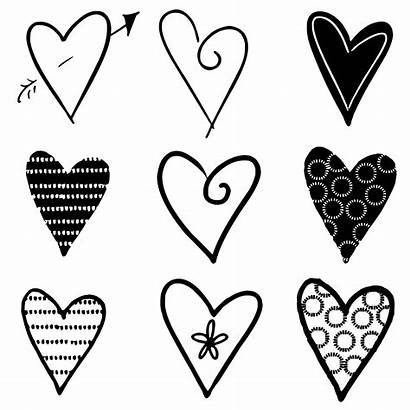 Hearts Silhouettes Silhouette Drawing Domain