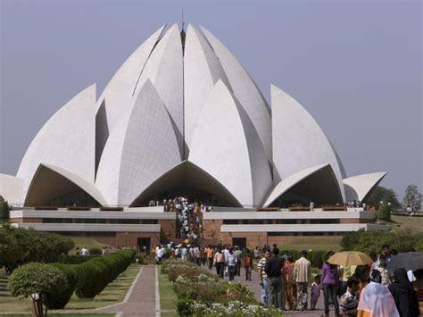 bahai house  worship lotus temple delhi india asia
