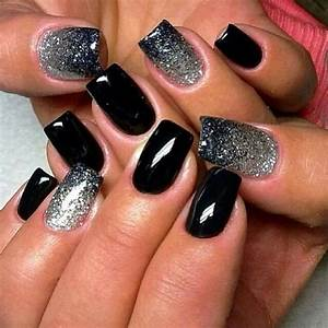 Black ombre nails pictures photos and images for