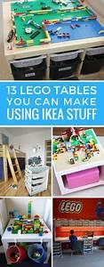 Lego Aufbewahrung Ideen : lego tisch f rs kinderzimmer selber bauen diy ideen f r tollen spieltisch basteln pinterest ~ Orissabook.com Haus und Dekorationen