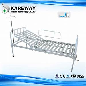 Single Crank Manual Hospital Patient Bed With Mattress