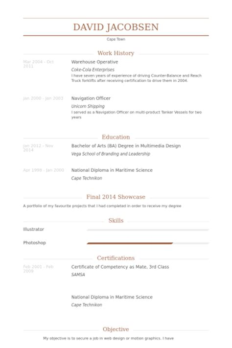 Curriculum Vitae For Warehouse Assistant by Warehouse Resume Sles Visualcv Resume Sles Database