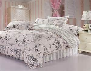 shop popular eiffel tower comforter set from china aliexpress
