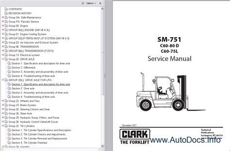 clark forklift trucks service manuals repair manual order