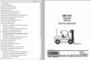 Clark Forklift Trucks Service Manuals Repair Manual Order  U0026 Download