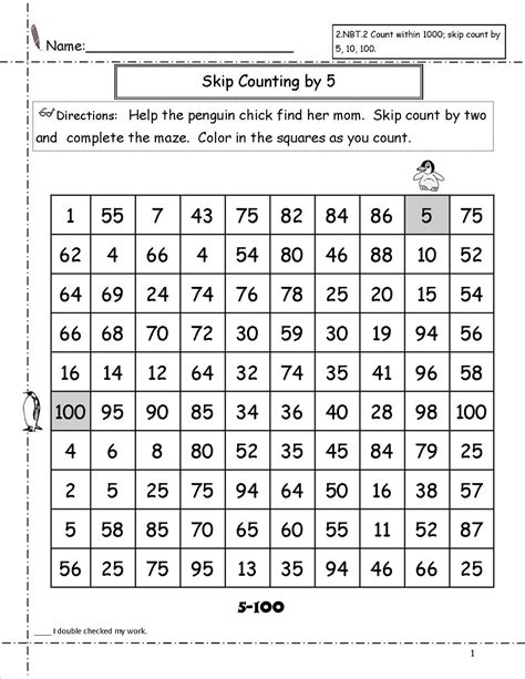 Skip Count By 5 Worksheet  Kiddo Shelter