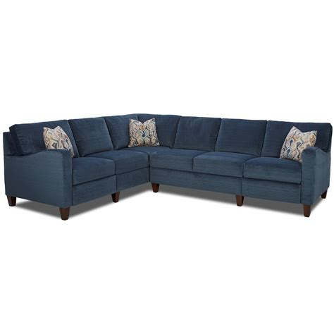 klaussner sectional sofa klaussner colleen hybrid reclining sectional with laf