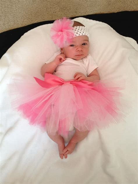 pink frilly  week  baby girl photo shoot ideas