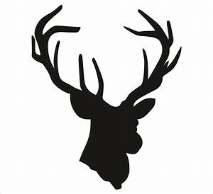 Silhouette Of Deer Head - ClipArt Best
