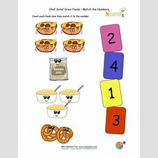 Preschool Matching Foods And Numbers Activity  The Grains Food Group