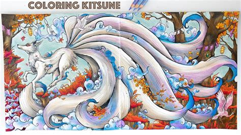 coloring kitsune  mythomorphia coloring book speed