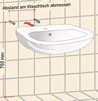 Waschbecken Montieren Höhe by Anleitung Waschtisch Richtig Montieren