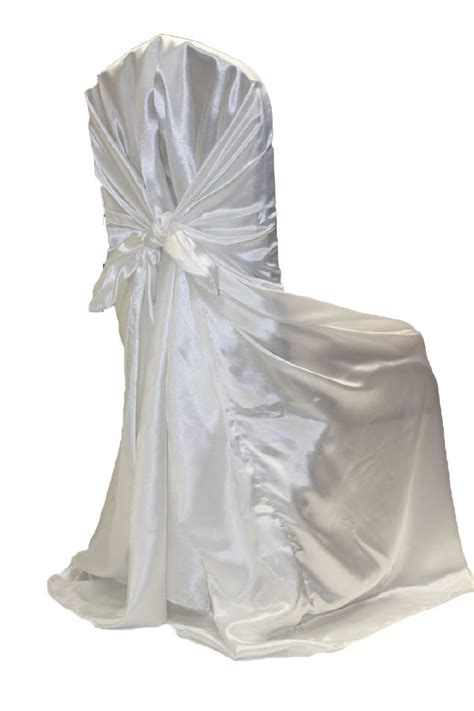 chair cover white satin universal rentals new orleans la