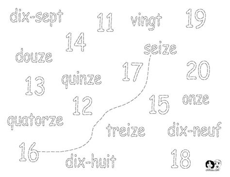 numbers worksheet french french worksheets for children