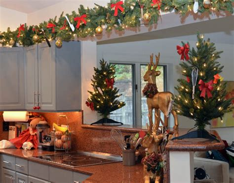 christmas decorations for the kitchen decorating top of kitchen cabinets for christmas best home decoration world class