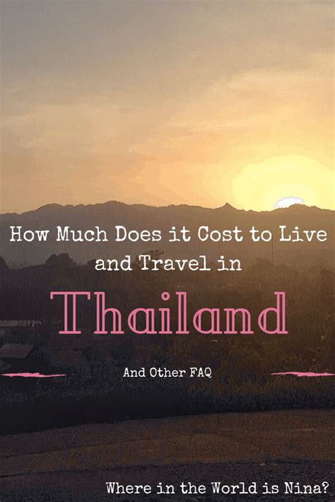 Much Would A Cost by How Much Does It Cost To Live In Thailand And Other Faq