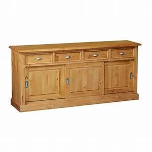 Meuble Bas Porte : meuble bas 3 portes coulissantes 4 tiroirs achat ~ Edinachiropracticcenter.com Idées de Décoration