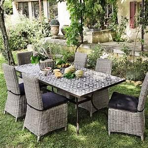 Maison Du Monde Table Jardin : table carreaux de ciment maisons du monde tables ~ Teatrodelosmanantiales.com Idées de Décoration