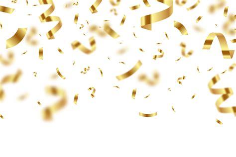 golden birthday confetti  blur png image purepng