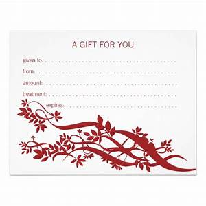 massage certificates gifts t shirts art posters With massage therapy gift certificate template