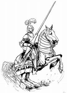 beautiful knight on horse | Coloring pages for big people ...