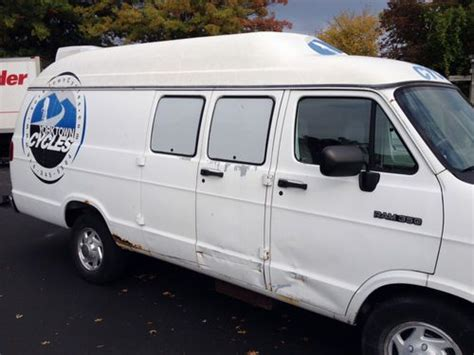 sell used 1992 dodge ram van white normal wear and tear in fountain valley california sell used 1994 dodge ram 350 van high top generator aux a c heat hitch in peekskill new