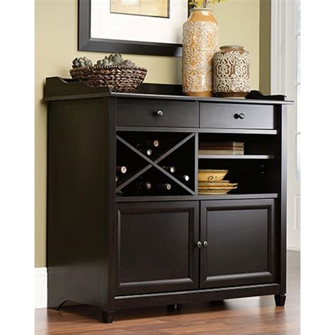 Black Sideboards by Sauder Edge Water Estate Black Buffet 414844 The Home Depot