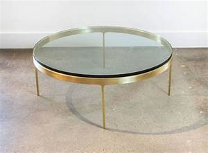 solid brass round coffee table by nicos zographos at 1stdibs With solid brass coffee table