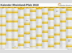 Feiertage 2018 RheinlandPfalz + Kalender