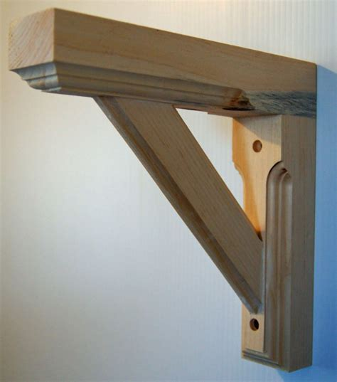 wooden shelf brackets solid pine wood wall shelf bracket unfinished new ebay