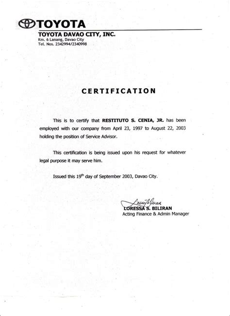 Certification Resume Sle by Pin By Windel03 Claro On Employment House Design Home