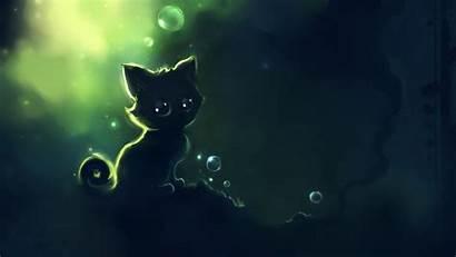 Dark Cat Anime Kitten Background Wallpapers Desktop