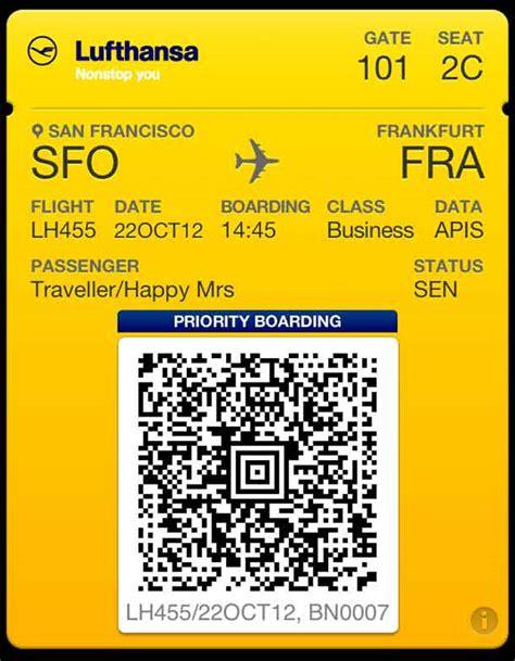 lufthansa neue app passbook fuer ios erleichtert boarding