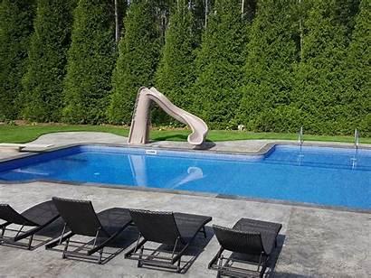 Fiberglass Pools Vinyl Pool Liner Slide Shaped