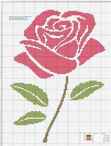 Dibujos Punto De Cruz Gratis  Rosa Pink