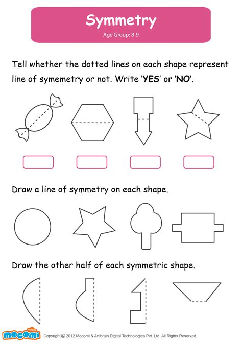 year 2 maths symmetry worksheets symmetry worksheet for maths for math