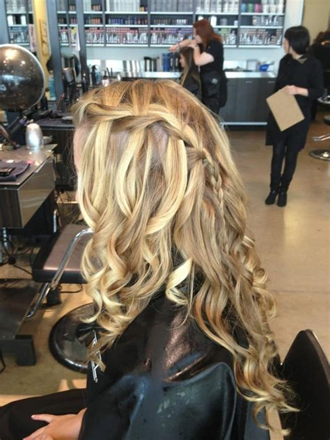 braid style for hair 17 best ideas about waterfall braid prom on 3912